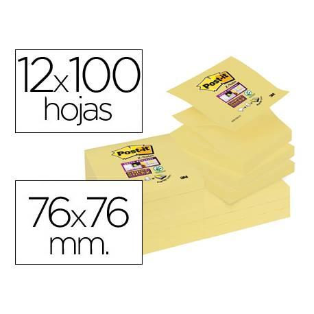 Bloc nota adhesivas quita y pon marca post-it ® super sticky zigzag