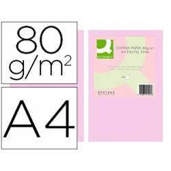 Papel color Q-connect tamaño A4 80g/m2 pack 500 hojas Rosa