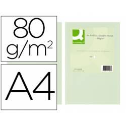Papel color Q-connect tamaño A4 80g/m2 pack 500 hojas Verde
