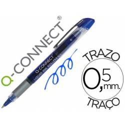 Boligrafo Q-connect roller ball azul 0,5 mm