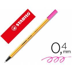 Rotulador Stabilo point 88/056 rosa neon