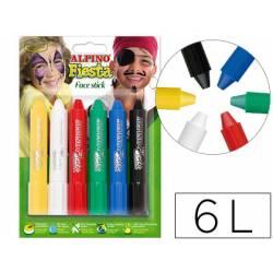 Barra maquillaje Alpino stick 6 colores