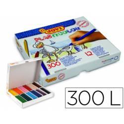 Lapices cera Jovi plasticolor 300 unidades de 12 colores surtidos