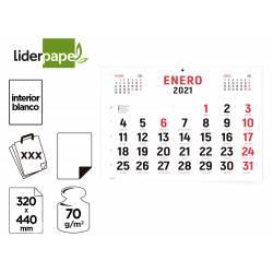 CALENDARIO PARED LIDERPAPEL 2021 32X44 CM PAPEL 70 GR