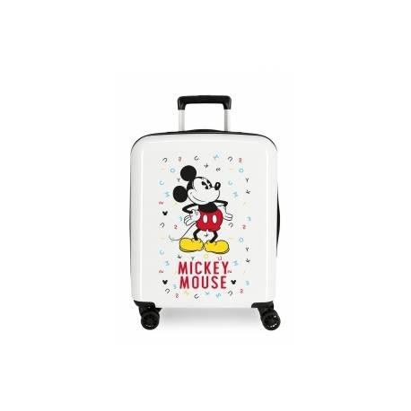 Maleta de cabina rígida Mickey letras 55x40x20cm