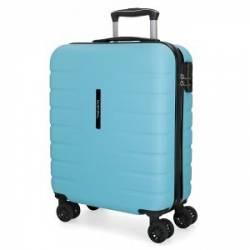 Maleta de cabina rígida Movom Turbo azul celeste 55x40x20cm