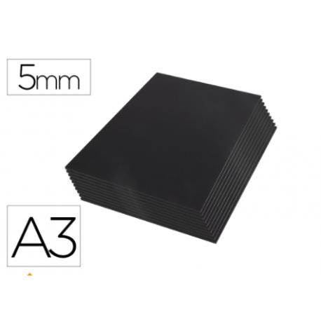 Carton pluma Liderpapel doble cara negro Din A3 Espesor 5 mm