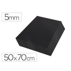 Carton pluma Liderpapel doble cara negro 50 x 70 cm Espesor 5 mm