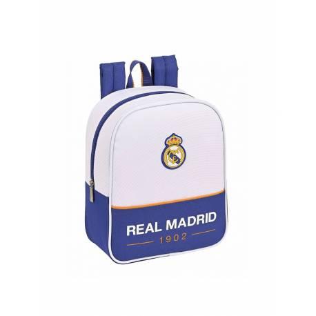MOCHILA ESCOLAR SAFTA REAL MADRID 1 EQUIPACION 21/22 GUARDERIA ADAPTABLE A CARRO 220X100X270 MM