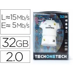 MEMORIA USB TECH ON TECH EQUIPACION FUTBOL MERENGUE 32 GB