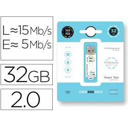 MEMORIA USB TECH ON TECH SERIE PROFESIONAL TECH WHITE 32 GB