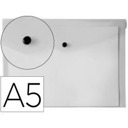 Carpeta sobre Liderpapel cierre broche transparente Din A5