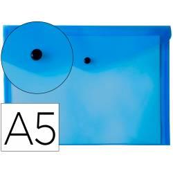 Carpeta sobre Liderpapel cierre broche azul Din A5