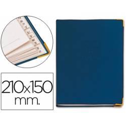 Listin telefonico tapa flexible tamaño 21x15 cm con cantonera dorada.