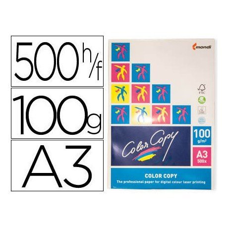 Papel multifuncion Mondi Color Copy A3 100 gr/m2 Satinado