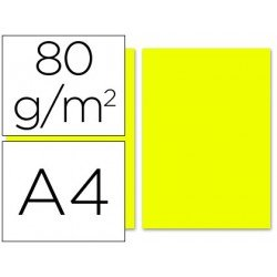Papel color Liderpapel color limon A4 80g/m2