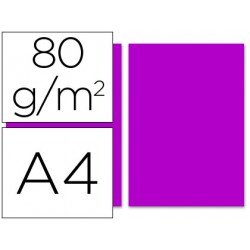 Papel color Liderpapel color fucsia A4 80g/m2