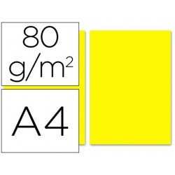Papel color Liderpapel color amarillo A4 80 g/m2 100 hojas