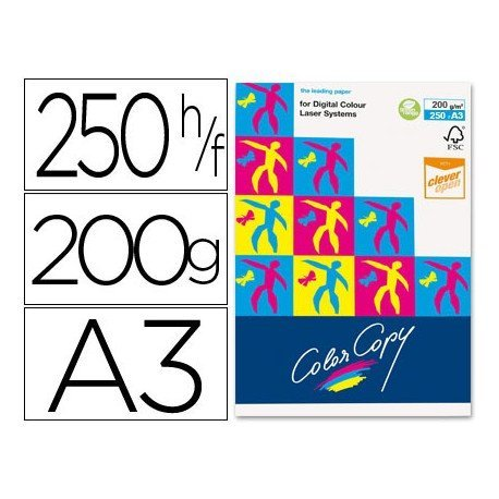 Papel multifuncion Mondi Color Copy Din A3 200 g/m2 Satinado