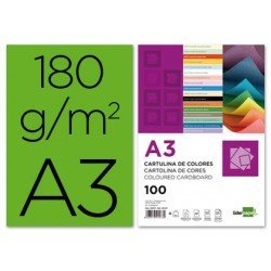 Cartulina Liderpapel color verde a3 180 g/m2