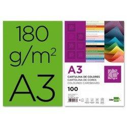 Cartulina Liderpapel color verde a3 180 g/m2
