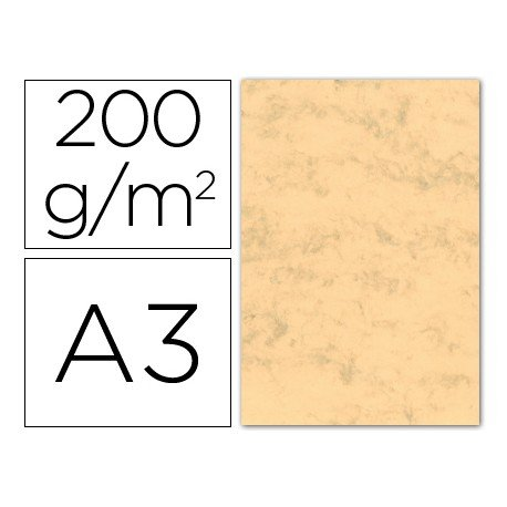 Cartulina marmoleada DIN A3 color Ocre