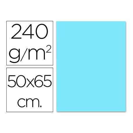 Cartulina Liderpapel color celeste 240 g/m2