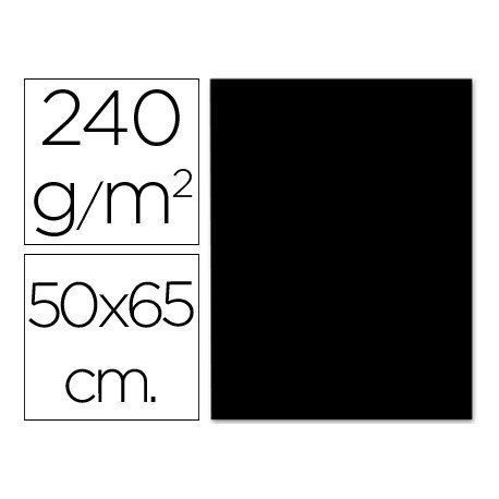 Cartulina Liderpapel color negro 240 g/m2