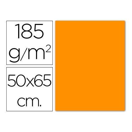 Cartulina Guarro naranja 500 x 650 mm de 185 g/m2