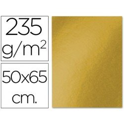 Cartulina metalizada Liderpapel color oro 235 g/m2