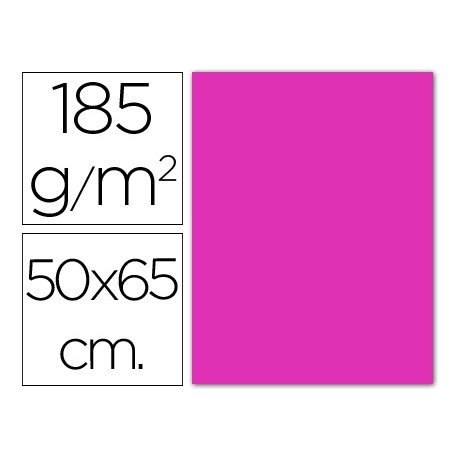 Cartulina fucsia Guarro 500 x 650 mm de 185 g/m2