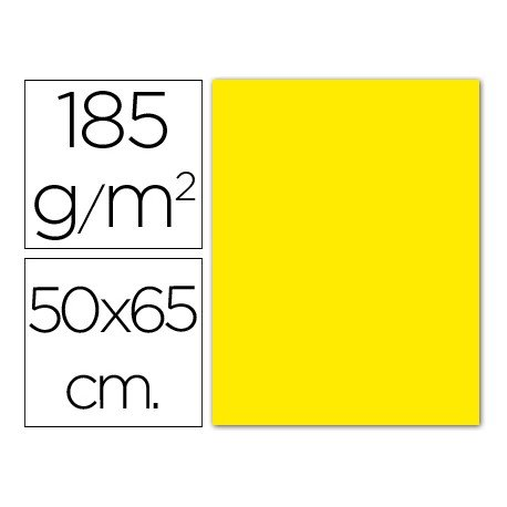 Cartulina Guarro amarillo canario 500 x 650 mm de 185 gm2