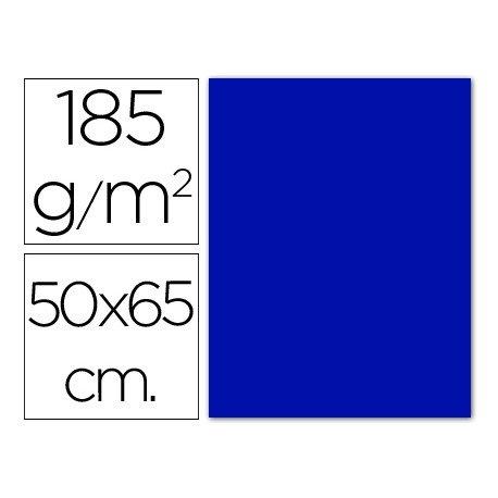 Cartulina Guarro azul ultramar 500 x 650 mm de 185 g/m2