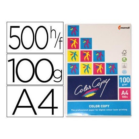 Papel multifuncion Mondi Color Copy A4 100 gr/m2 Satinado