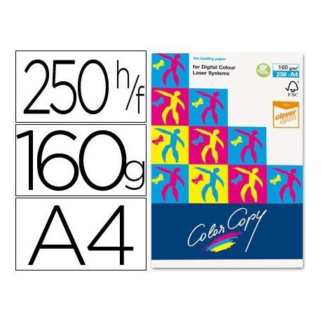 Papel multifuncion Mondi Color Copy A4 160 gr/m2 Satinado