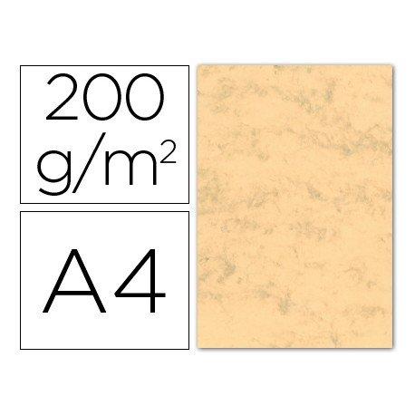 Cartulina marmoleada DIN A4 color Ocre