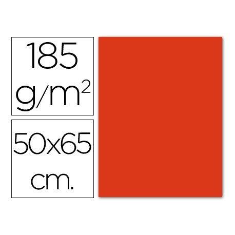 Cartulina Guarro tomate 500 x 650 mm de 185 g/m2