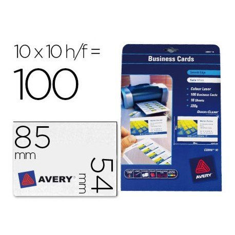 Tarjetas de visita marca Avery 200 g