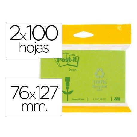 Bloc quita y pon Post-it ® 76 x 127 mm.