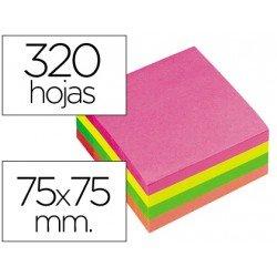 Cubo de notas adhesivas Q-Connect Neon