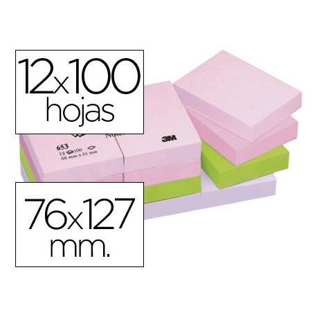 Bloc quita y pon Post-it ® colores pastel
