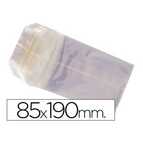 Bolsas de celofan 85x190 mm. Paquete de 100 unidades