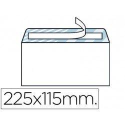 Sobre N.5 Liderpapel, 115x225mm , blanco americano con tira de silicona open system. Caja de 500 unidades.