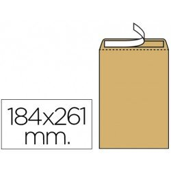 Sobres bolsa kraft N.6 Liderpapel, 184x261mm