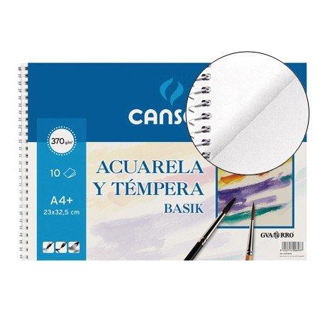 Bloc de dibujo Canson tamaño Din A4 espiral Acuarela