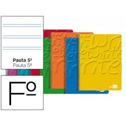 Bloc marca Liderpapel folio Write pauta estrecha 2,5 mm