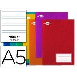 Libreta escolar marca Liderpapel grapada pauta 3.5 mm