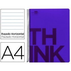 Bloc Din A4 Liderpapel serie Think rayado horizontal violeta