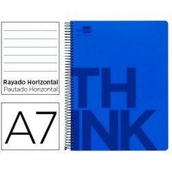 Bloc Din A7 Liderpapel serie Think rayado horizontal azul