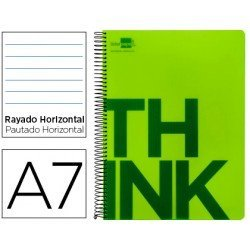 Bloc Din A7 Liderpapel serie Think rayado horizontal verde